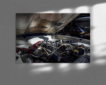 Lotus Cortina motorcompartiment. van Simon Peeters