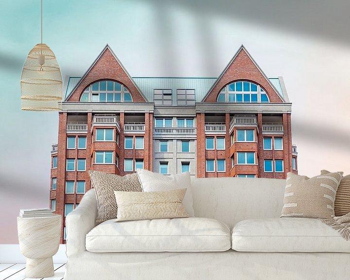 Sfeerimpressie behang: Rotterdam van Gwenn klabbers