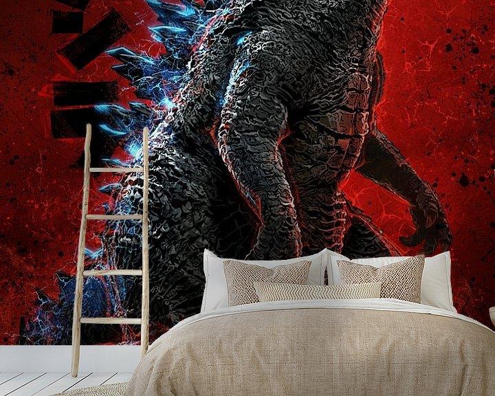Beispiel fototapete: Godzilla von Nikita Abakumov