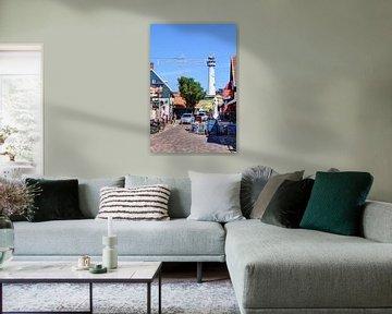Egmond aan Zee Stadtzentrum Leuchtturm von Hendrik-Jan Kornelis