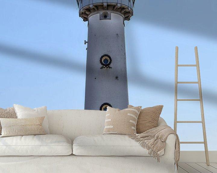 Sfeerimpressie behang: Egmond aan Zee Binnenstad Vuurtoren van Hendrik-Jan Kornelis