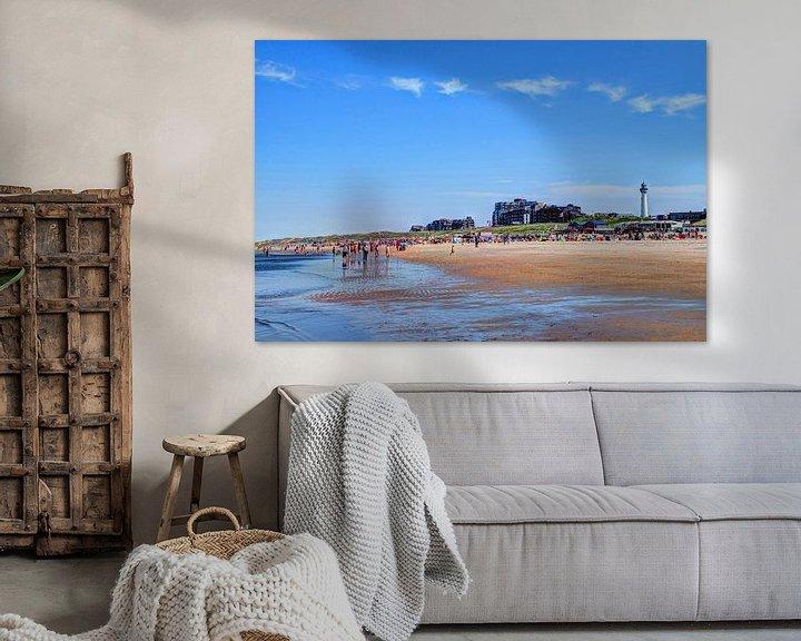 Sfeerimpressie: Egmond aan Zee Strand Vuurtoren van Hendrik-Jan Kornelis