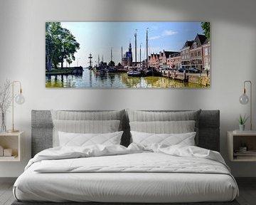 Panorama Hoorn Oude Haven Kruittoren Hollande du Nord Pays-Bas sur Hendrik-Jan Kornelis