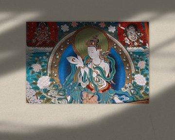 Tibetaanse muurschildering van Your Travel Reporter