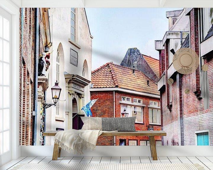 Sfeerimpressie behang: Hoorn Noord-Holland Nederland van Hendrik-Jan Kornelis