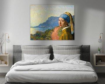 Meisje met de Parel op bezoek bij La Corniche bij Monaco van Eigenwijze Fotografie