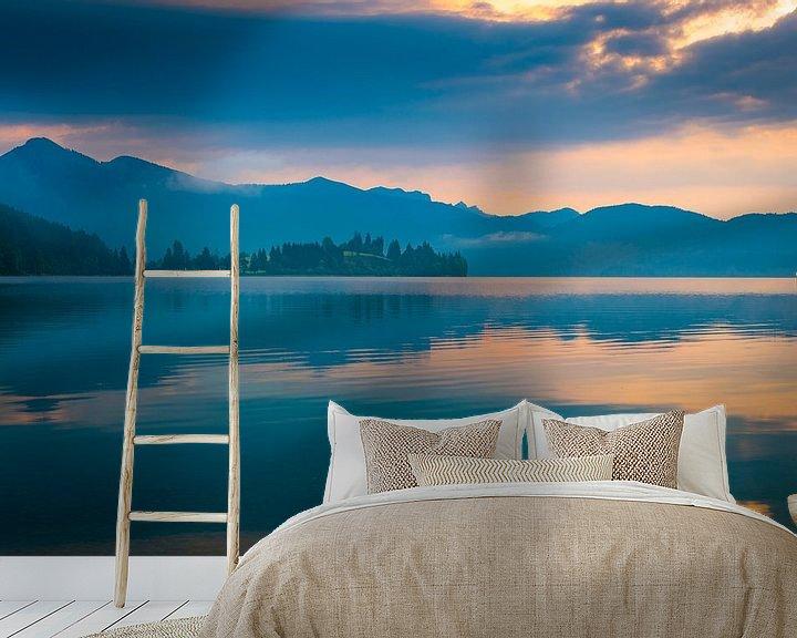 Beispiel fototapete: Morgen am Walchensee von Martin Wasilewski