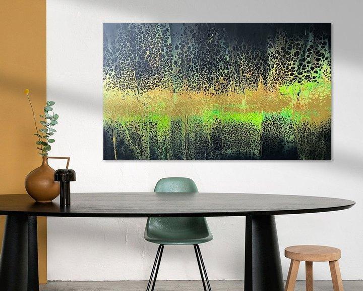 Beispiel: Goldregen von AcrylicpouringAN