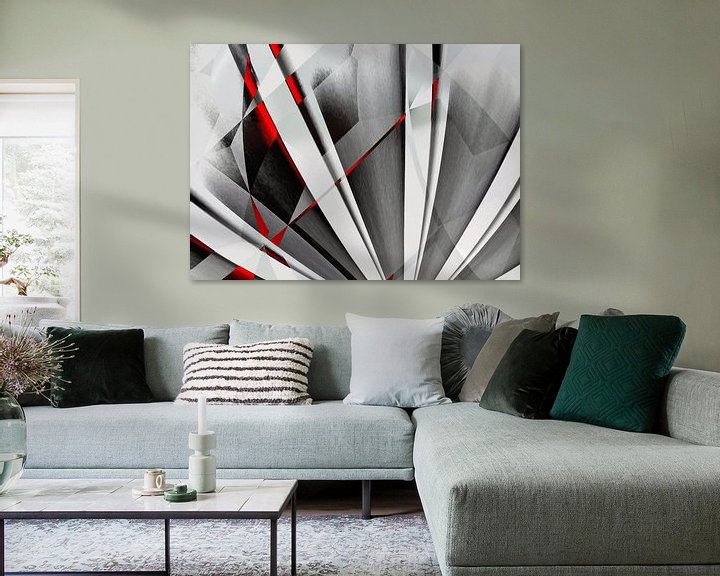 Sfeerimpressie: Abstractum rood-grijs van Max Steinwald