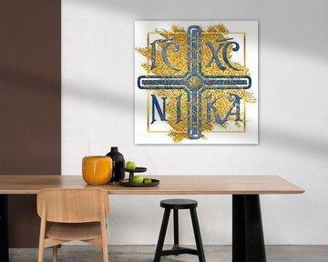 IC XC NIKA - Kreuz Blau Gold, Ιησούς Χριστός Νικά von ADLER & Co / Caj Kessler