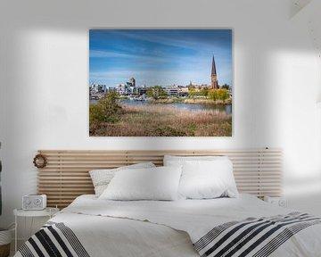 Panoramablick von Rostock in Mecklenburg-Vorpommern von Animaflora PicsStock