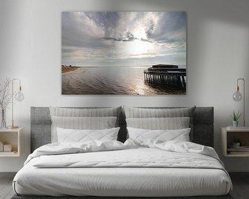 Scheveningen strand Noord met Pier van Anne Zwagers