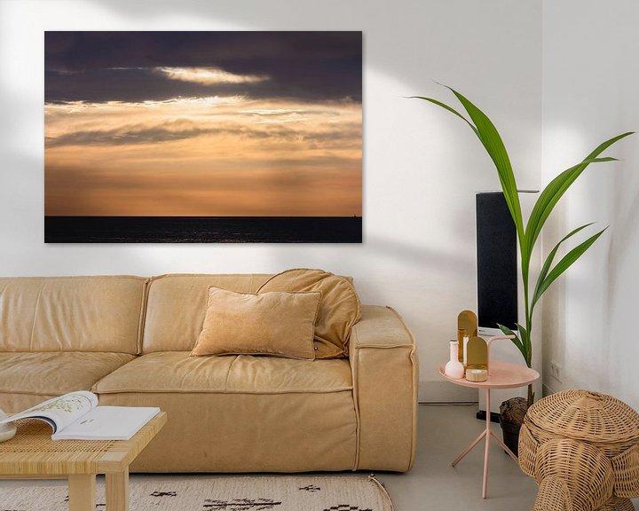 Sfeerimpressie: Zonsondergang Scheveningen van Anne Zwagers