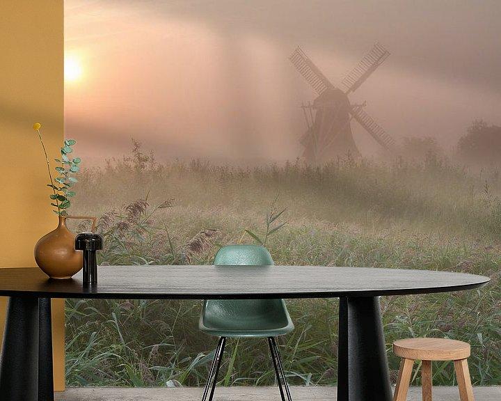 Impression: Noordermolen in de mist sur robert wierenga