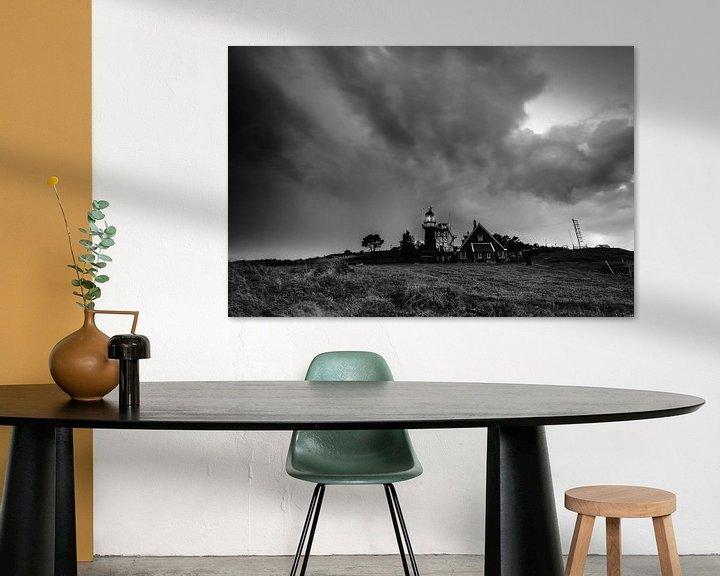 Sfeerimpressie: Dark skies over Vlieland van robert wierenga