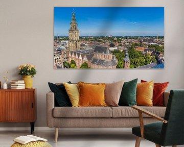 Martinitoren in der Skyline von Groningen von Marc Venema