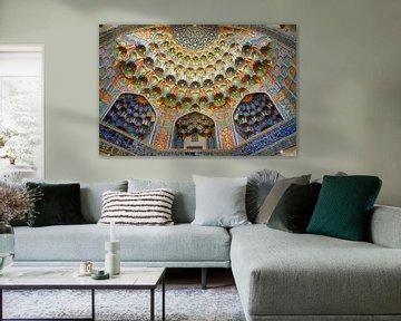 Ingang Abdul Aziz Khan Madrassa Bukhara van Yvonne Smits
