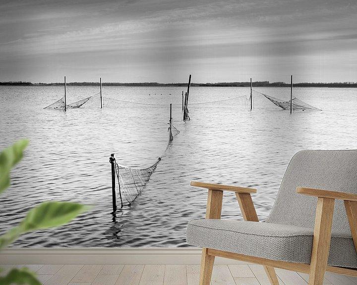 Beispiel fototapete: Palingfuik in het Lauwersmeer von robert wierenga