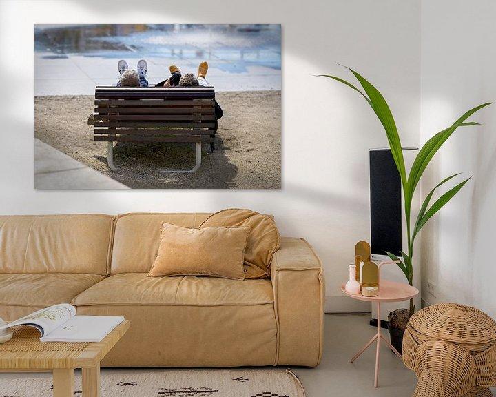 Beispiel: Entspannung auf einer Bank von Heiko Kueverling