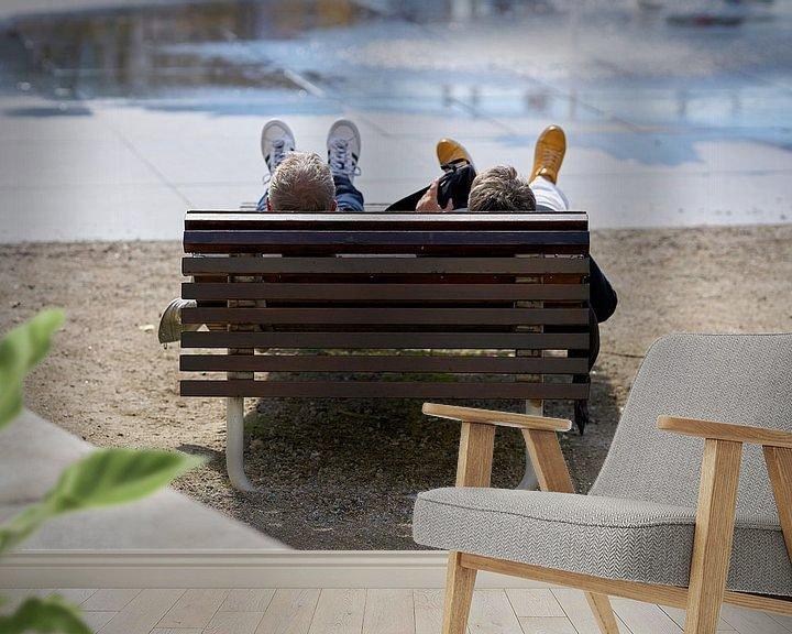 Beispiel fototapete: Entspannung auf einer Bank von Heiko Kueverling
