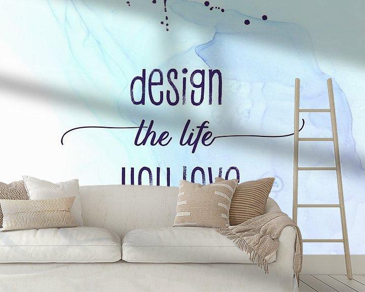 Sfeerimpressie behang: Design the life you love   floating colors van Melanie Viola