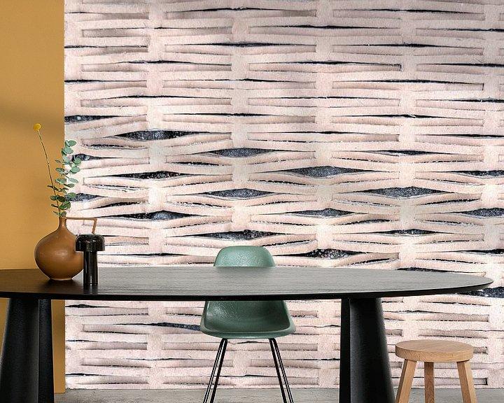 Sfeerimpressie behang: Abstract golfkarton van Watze D. de Haan