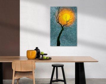 Baum mit Mond von Corinne Welp