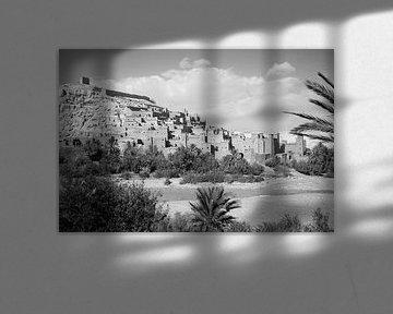 Ait Ben Haddou - Marokko (schwarz-weiß) von t.ART