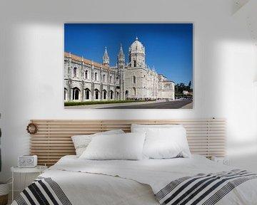 Het Mosteiro dos Jerónimos in Belém, Lissabon van Berthold Werner
