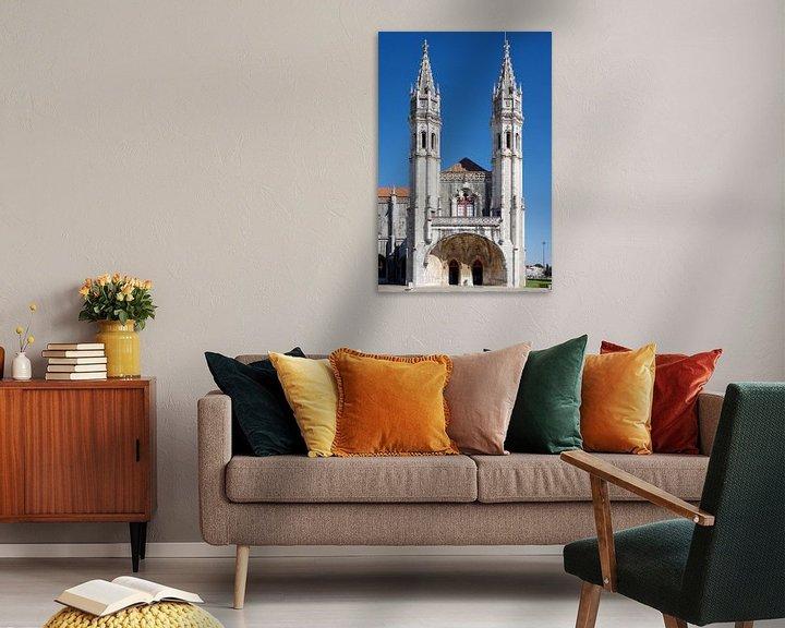 Sfeerimpressie: Het Mosteiro dos Jerónimos in Belém, Lissabon van Berthold Werner