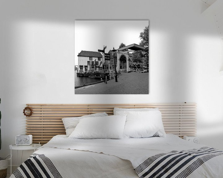 Sfeerimpressie: Alkmaar Noord-Holland Zwart Wit van Hendrik-Jan Kornelis