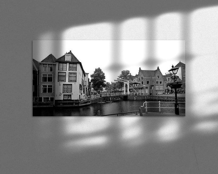 Sfeerimpressie: Alkmaar Noord-Holland Zwart Wit Panorama van Hendrik-Jan Kornelis
