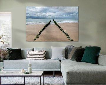 Het strand van Vlissingen. van Don Fonzarelli