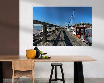 Bootssteg - Hafen Puddemin auf Rügen von GH Foto & Artdesign