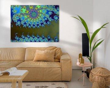 Kleurrijke fractal - Wiskunde - Mandelbrotverzameling - Appleman van MPfoto71