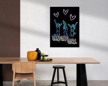 Dancing Girl Dancing Aerobics Fitness van KalliDesignShop