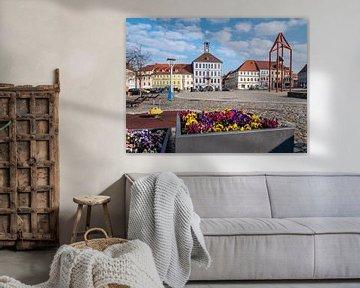 Skyline van Bischofswerda in Saksen van Animaflora PicsStock