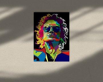 Glenn Hughes Pop Art WPAP van Fariza Abdurrazaq