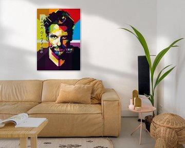 Ioan Gruffudd Pop Art WPAP van Fariza Abdurrazaq
