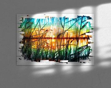 Sonnenuntergang - Marker Look - Fotomalerei MeinhardtART von Dietmar Meinhardt
