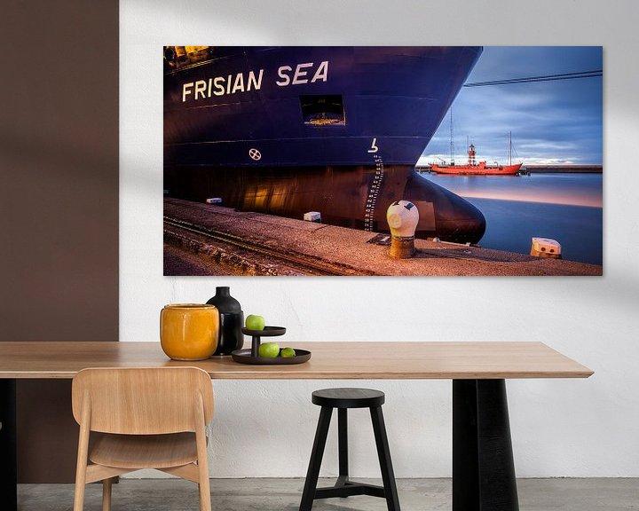 Impression: Frisian Sea in de haven van Harlingen sur Martijn van Dellen