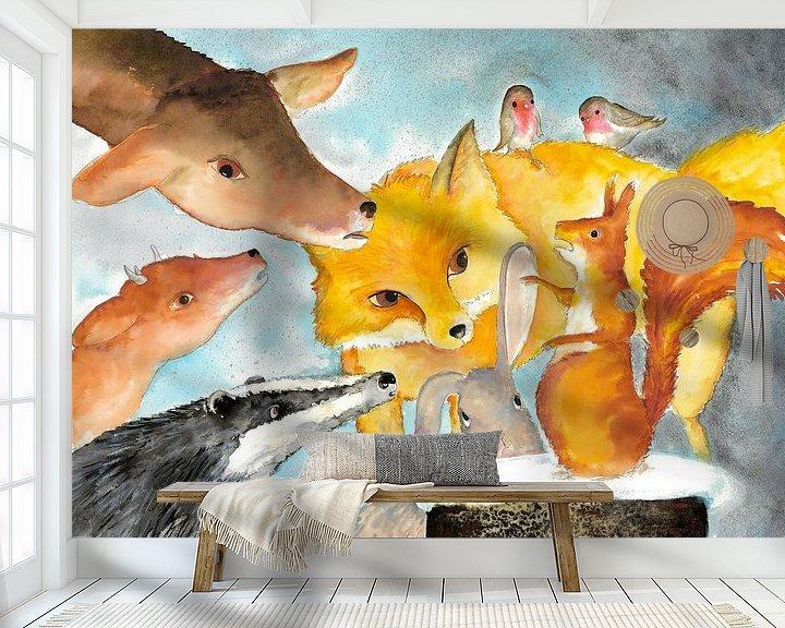 Sfeerimpressie behang: Wat nu? van Martine van Nieuwenhuyzen