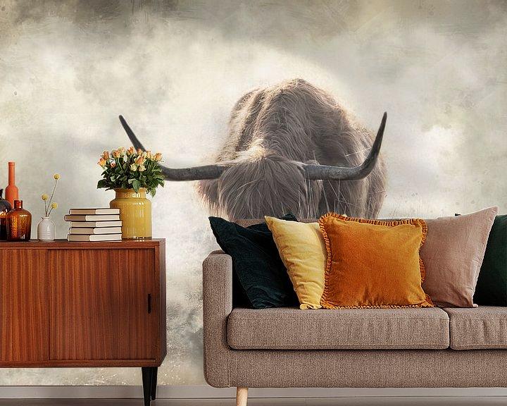 Beispiel fototapete: Schottische Highlander-Kunst im Nebel von KB Design & Photography (Karen Brouwer)