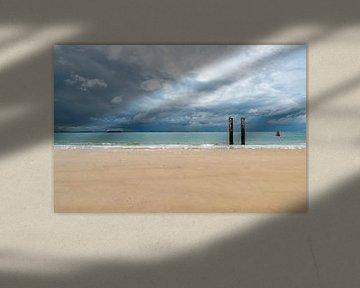 Palen in zee. van Don Fonzarelli