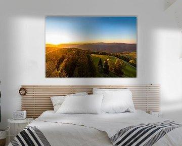 Sonnenaufgang am Schauinsland im Schwarzwald