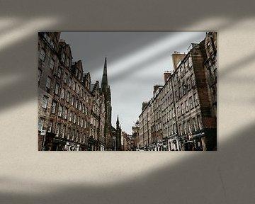 Statue auf der Royal Mile in Edinburgh von Trix Leeflang