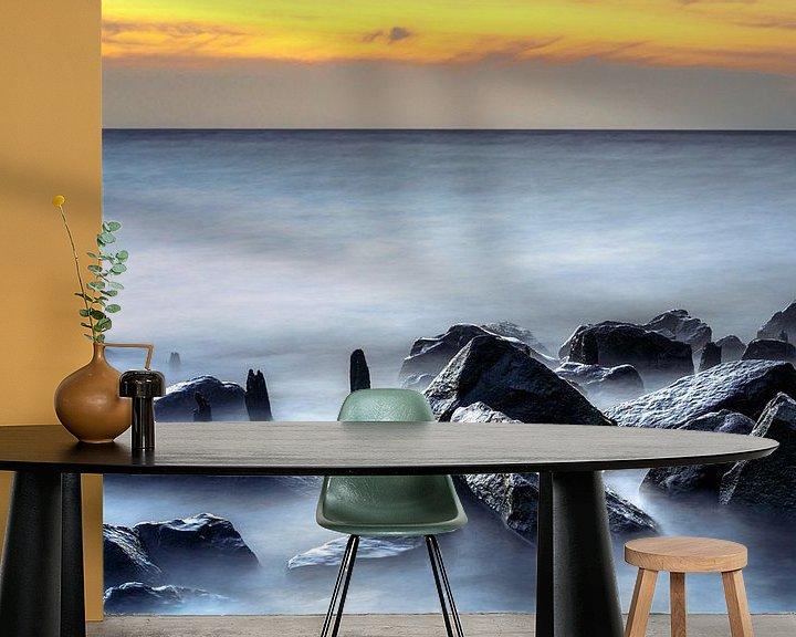 Sfeerimpressie behang: Dromerige IJsselmeer kust van Fotografiecor .nl