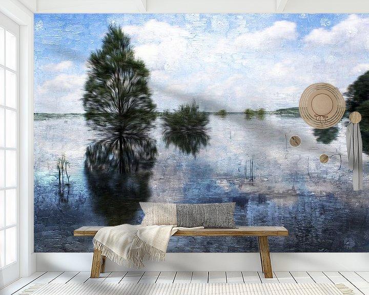 Sfeerimpressie behang: waving trees van Yvonne Blokland