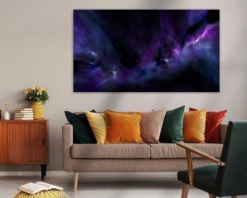 Space Art Galaxie avec nébuleuse dans l'espace sur Markus Gann
