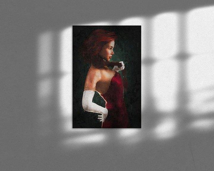 Sfeerimpressie: Rood Geschilderd Portret van Arjen Roos